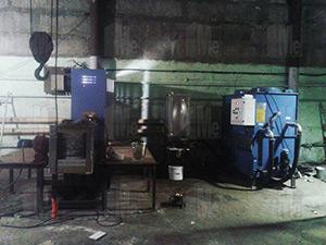 Запуск индукционной плавильной печи GW 0,15-160-1 в Рязани