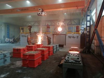 Поставка и запуск Индукционной печи емкостью 1.5 тонны