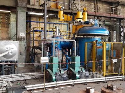 Запуск вакуумной плавильной печи емкостью 250 кг